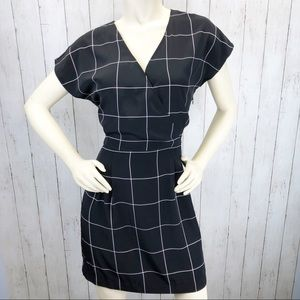 Banana Republic Windowpane Dress Sz 8